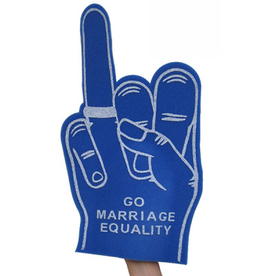 marriage equality foam hand