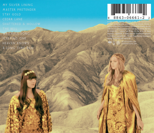 First Aid Kit, Stay Gold, back cover design
